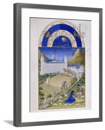 Les Très Riches Heures du duc de Berry--Framed Giclee Print