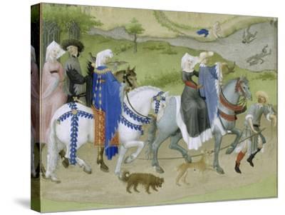 Les Très Riches Heures du duc de Berry--Stretched Canvas Print