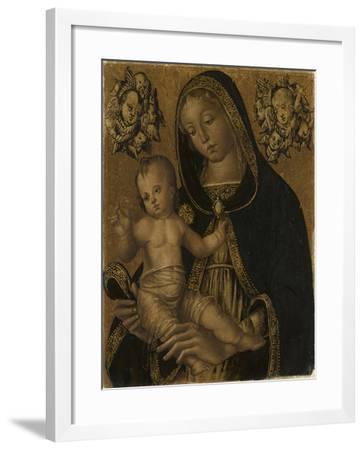 La Vierge et l'Enfant, avec deux chérubins--Framed Giclee Print