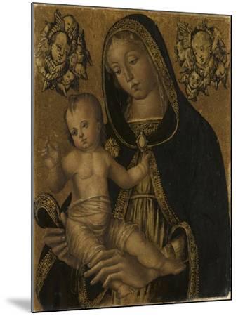 La Vierge et l'Enfant, avec deux chérubins--Mounted Giclee Print