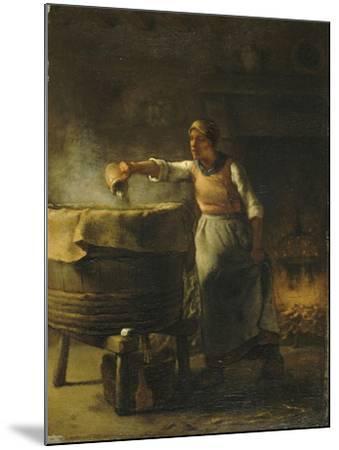 La Lessiveuse-Jean-Fran?ois Millet-Mounted Giclee Print