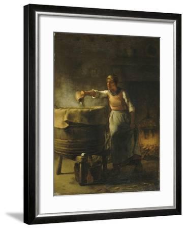 La Lessiveuse-Jean-Fran?ois Millet-Framed Giclee Print