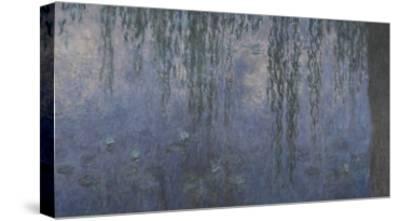 Les Nymphéas : Le Matin aux Saules-Claude Monet-Stretched Canvas Print