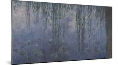 Les Nymphéas : Le Matin aux Saules-Claude Monet-Mounted Giclee Print