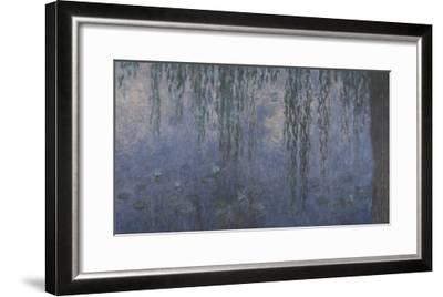 Les Nymphéas : Le Matin aux Saules-Claude Monet-Framed Giclee Print