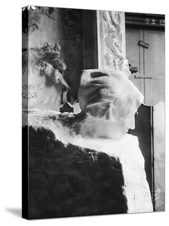 La Pensée-Auguste Rodin-Stretched Canvas Print