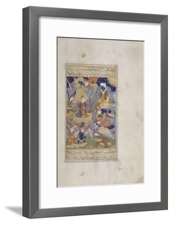 Miniature : Adam entouré d'anges--Framed Giclee Print