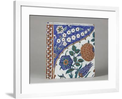 Carreau à décor floral polychrome--Framed Giclee Print
