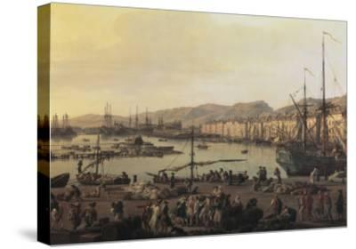 Troisième vue de Toulon, vue du vieux port, prise du côté des magasins au vivres-Claude Joseph Vernet-Stretched Canvas Print