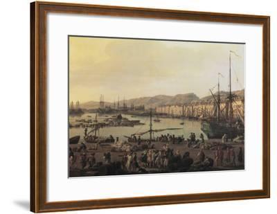 Troisième vue de Toulon, vue du vieux port, prise du côté des magasins au vivres-Claude Joseph Vernet-Framed Giclee Print