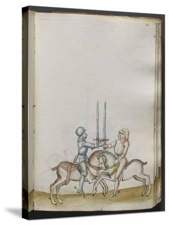 Traité de combat (tradition de maître Johann Lichtenauer)--Stretched Canvas Print