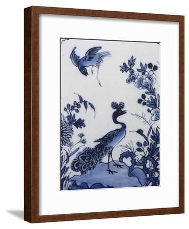 Tulipière (Tulpenvaas) Fan Decorated with Far East--Framed Giclee Print