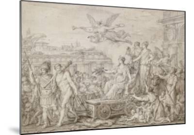 Triomphe de la Constitution de 1793-Joseph Marie Vien-Mounted Giclee Print