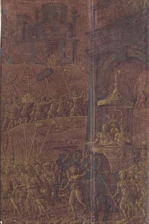 Triomphe de Titus-Andrea Mantegna-Stretched Canvas Print