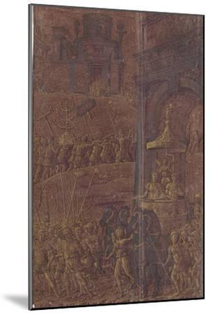 Triomphe de Titus-Andrea Mantegna-Mounted Giclee Print