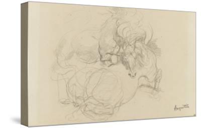 Deux chevaux luttant-Louis Anquetin-Stretched Canvas Print