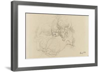 Deux chevaux luttant-Louis Anquetin-Framed Giclee Print