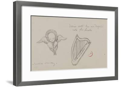 Deux études. Harpe, Séraphin-Gustave Moreau-Framed Giclee Print