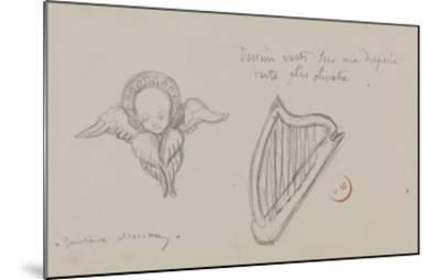 Deux études. Harpe, Séraphin-Gustave Moreau-Mounted Giclee Print