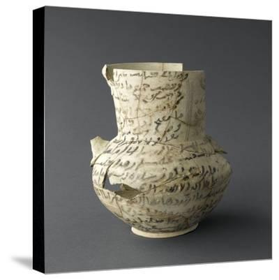 Vase inscrit--Stretched Canvas Print