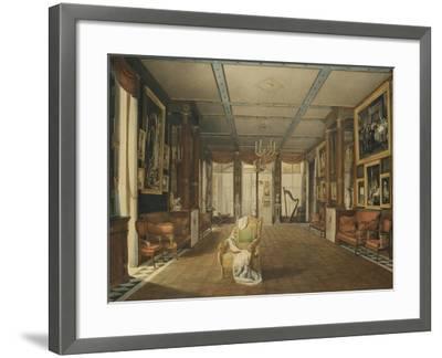 Vue de Salon de musique de Joséphine-Auguste Garneray-Framed Giclee Print
