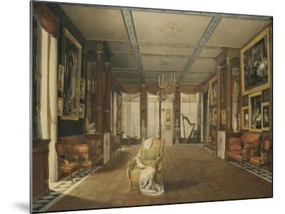 Vue de Salon de musique de Joséphine-Auguste Garneray-Mounted Giclee Print