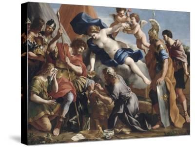Vénus versant le dictame sur la blessure d'Enée-Giovanni Francesco Romanelli-Stretched Canvas Print