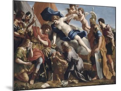 Vénus versant le dictame sur la blessure d'Enée-Giovanni Francesco Romanelli-Mounted Giclee Print