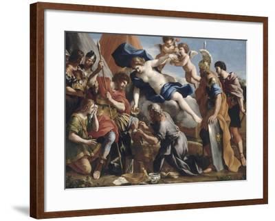 Vénus versant le dictame sur la blessure d'Enée-Giovanni Francesco Romanelli-Framed Giclee Print