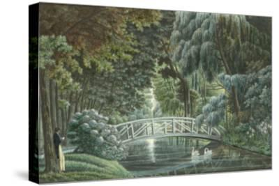 Vue  de Malmaison : vue du château prise du pont de pierre-Auguste Garneray-Stretched Canvas Print
