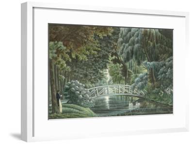 Vue  de Malmaison : vue du château prise du pont de pierre-Auguste Garneray-Framed Giclee Print