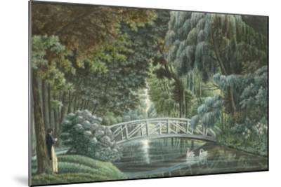 Vue  de Malmaison : vue du château prise du pont de pierre-Auguste Garneray-Mounted Giclee Print