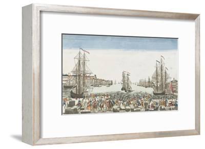 Vue du port de Rochefort--Framed Giclee Print