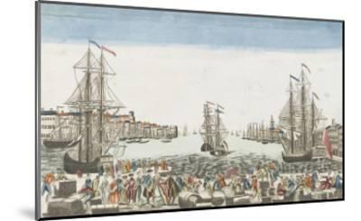 Vue du port de Rochefort--Mounted Giclee Print