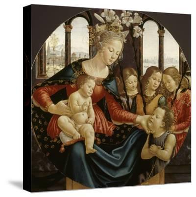 Vierge à l'Enfant-Domenico Ghirlandaio-Stretched Canvas Print