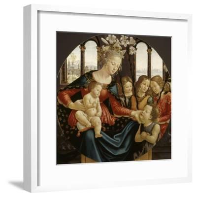 Vierge à l'Enfant-Domenico Ghirlandaio-Framed Giclee Print
