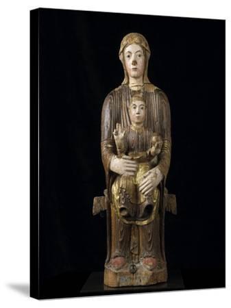 Vierge à l'Enfant en majesté--Stretched Canvas Print