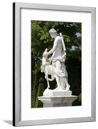 Vue du parc, l'allée royale ou Tapis-Vert : allée nord-Anselme I Flamen-Framed Giclee Print