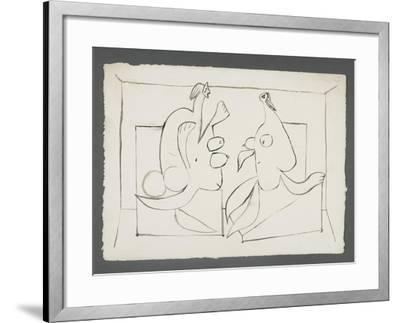 La visite. Deux femmes assises--Framed Giclee Print
