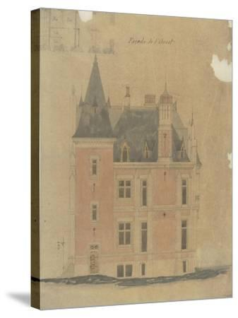 West Facade of a Hotel Neo-Renaissance Corner Turret-Antoine Zoegger-Stretched Canvas Print