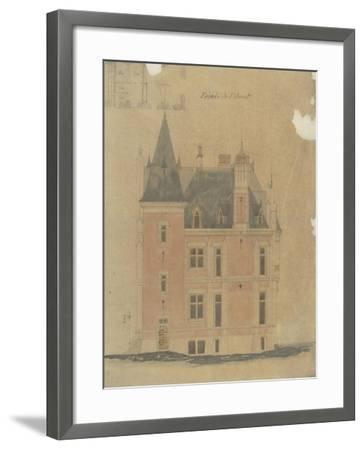 West Facade of a Hotel Neo-Renaissance Corner Turret-Antoine Zoegger-Framed Giclee Print