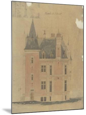 West Facade of a Hotel Neo-Renaissance Corner Turret-Antoine Zoegger-Mounted Giclee Print