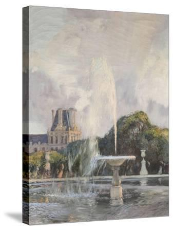 Jet d'eau aux Tuileries-Gaston De La Touche-Stretched Canvas Print