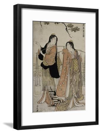 Femmes des marais salants-Torii Kiyonaga-Framed Giclee Print
