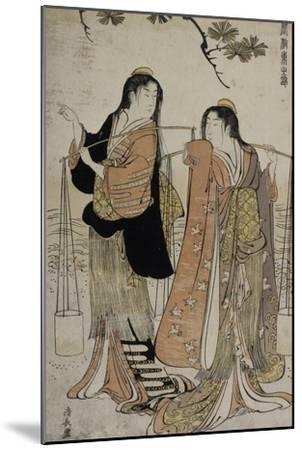 Femmes des marais salants-Torii Kiyonaga-Mounted Giclee Print