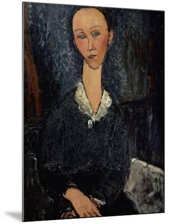 Femme au col blanc-Amedeo Modigliani-Mounted Giclee Print