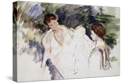 Femmes et enfants-Mary Cassatt-Stretched Canvas Print