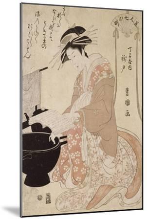Jeune femme-Utagawa Toyokuni-Mounted Giclee Print