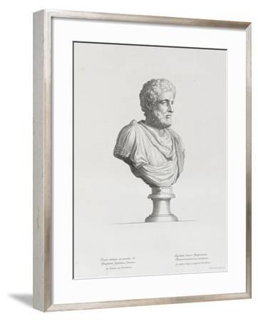 Tableau du Cabinet du Roi, statues et bustes antiques des Maisons Royales Tome II : planche 32-Etienne Baudet-Framed Giclee Print