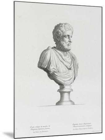 Tableau du Cabinet du Roi, statues et bustes antiques des Maisons Royales Tome II : planche 32-Etienne Baudet-Mounted Giclee Print